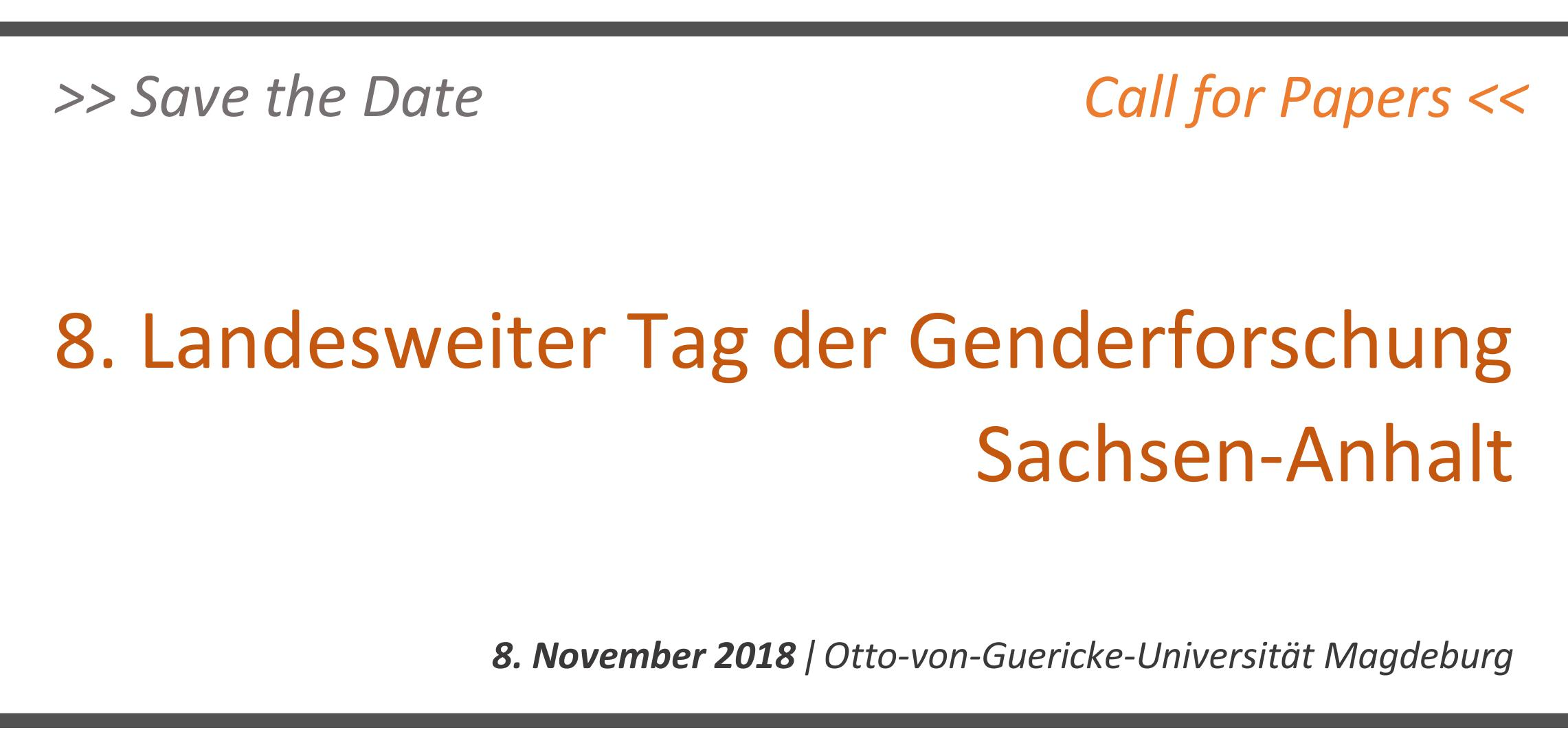 Call for Papers_Landesweiter Tag der Genderforschung